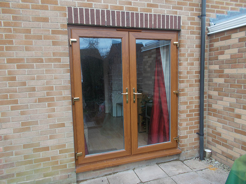 Light Oak UPVC Double Glazed French Patio Doors