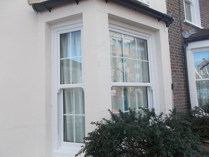 Victorian Sliding Sash Bay Upvc Window Sutton Surrey